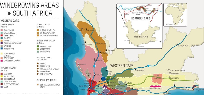 Südafrikas Weinregionen